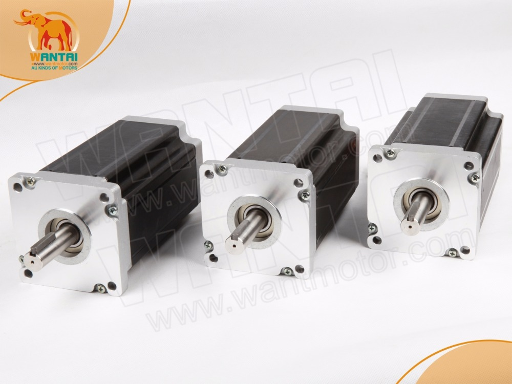 New Cheap kit 3PCS Nema 34 Stepper Motor with 1500OZ-In high torque, 4Leads , 6A CNC Kit wantaimotor cutting milling Engraving