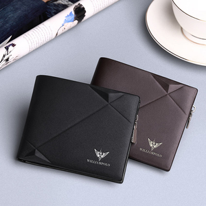 Image 4 - WILLIAMPOLO Mens Slim Wallet Genuine Leather Mini Purse Casual Design Bifold Brand Short Wallet Carteira Masculina PL191431SMT