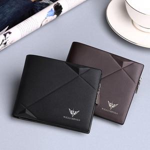 Image 4 - Williampolo男性の財布本革財布カジュアルなデザイン二つ折りブランド短財布carteira masculina PL191431SMT