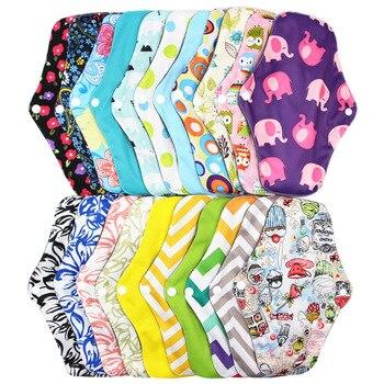 18*25cm Reusable Bamboo Cloth Hygiene Menstrual Panty Pad Washable Sanitary Napkin Mama Sanitary Towel Feminine Hygiene Diapers