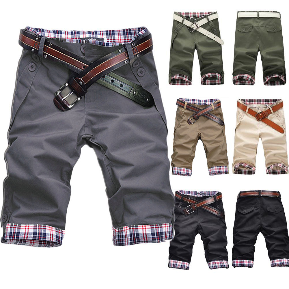 2020 New Summer Shorts Men's Casual Candy Color Without Belt Hot Sale Male Solid Fashion Casual Streetwear Short Pants