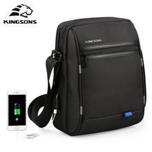 Kingsons сумка через плечо известного бренда Повседневная деловая сумка мессенджер винтажная сумка через плечо мужские сумки через плечо