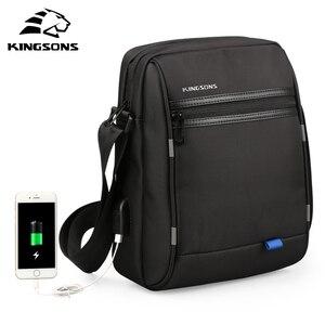 Image 1 - Kingsons сумка через плечо известного бренда Повседневная деловая сумка мессенджер винтажная сумка через плечо мужские сумки через плечо