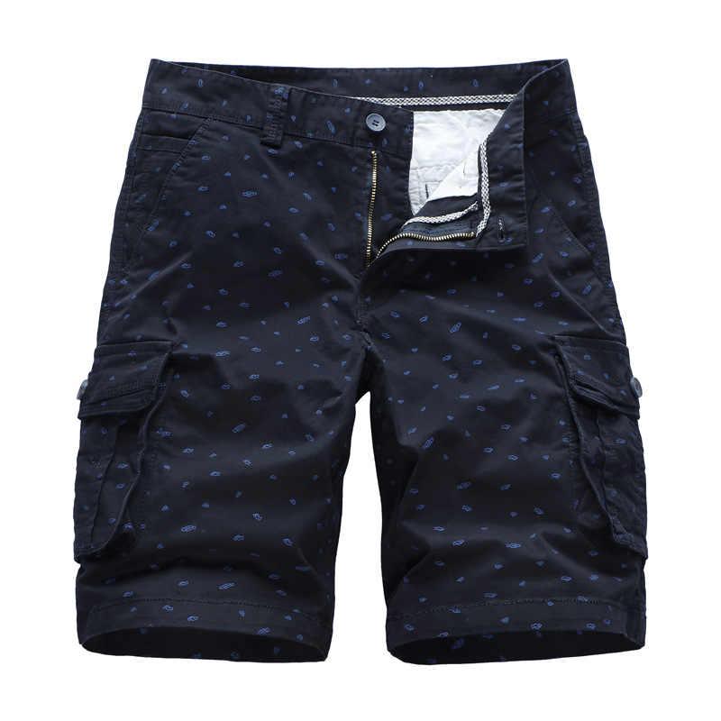 Gustomerd 2020 Musim Panas Pria Celana Pendek Kasual Katun Stretch Celana Pendek Fashion Printing Longgar Pria Lengan Pendek
