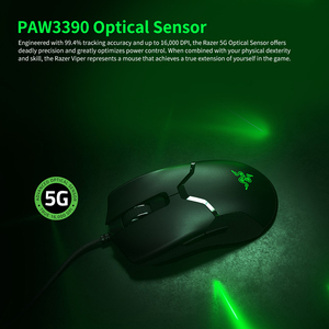 Image 5 - Razer Viper Wired Gaming Mouse 16000DPI RGB Computer Mice PAW3390 Optical Sensor 60g Lightweight SpeedFlex Cable DPI for PC