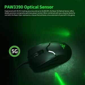 Image 5 - Razer Viper kablolu oyun fare 16000DPI RGB bilgisayar fare PAW3390 optik sensör 60g hafif SpeedFlex kablo DPI PC