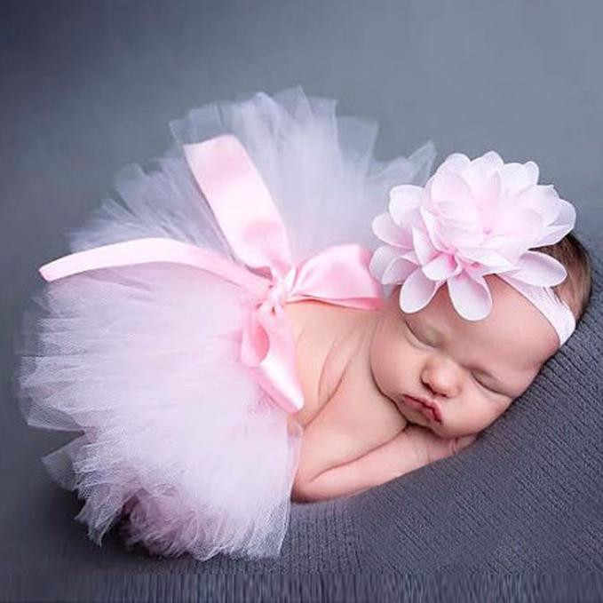 ARLONEET 2pcs Newborn Baby Girls Boys Costume Photo Photography Prop Outfits Skirt +Headband Baby photo set props CO29
