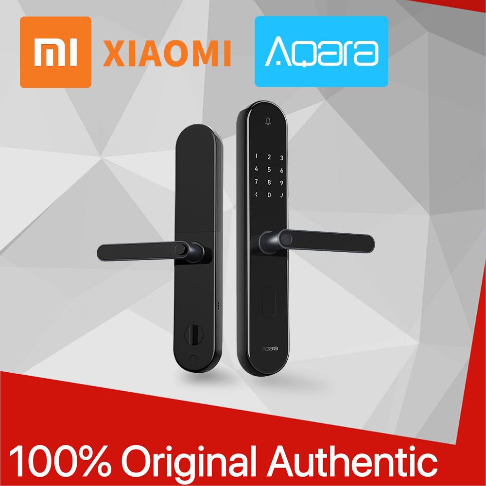 Новый оригинальный Xiaomi Aqara S2 Pro умный Интеллектуальный Дверной замок без ключа Пароль отпечаток пальца ключ разблокировка Xiomi приложение мо...
