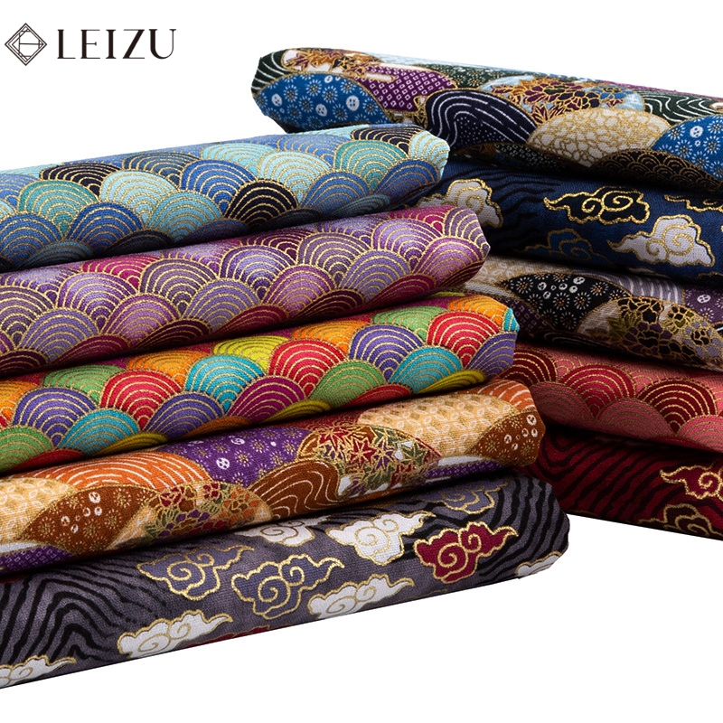 Kimono Quilting Cotton Fabric Gorgeous Printed Fabric For Diy Home Textile Or Clothes TJ1023