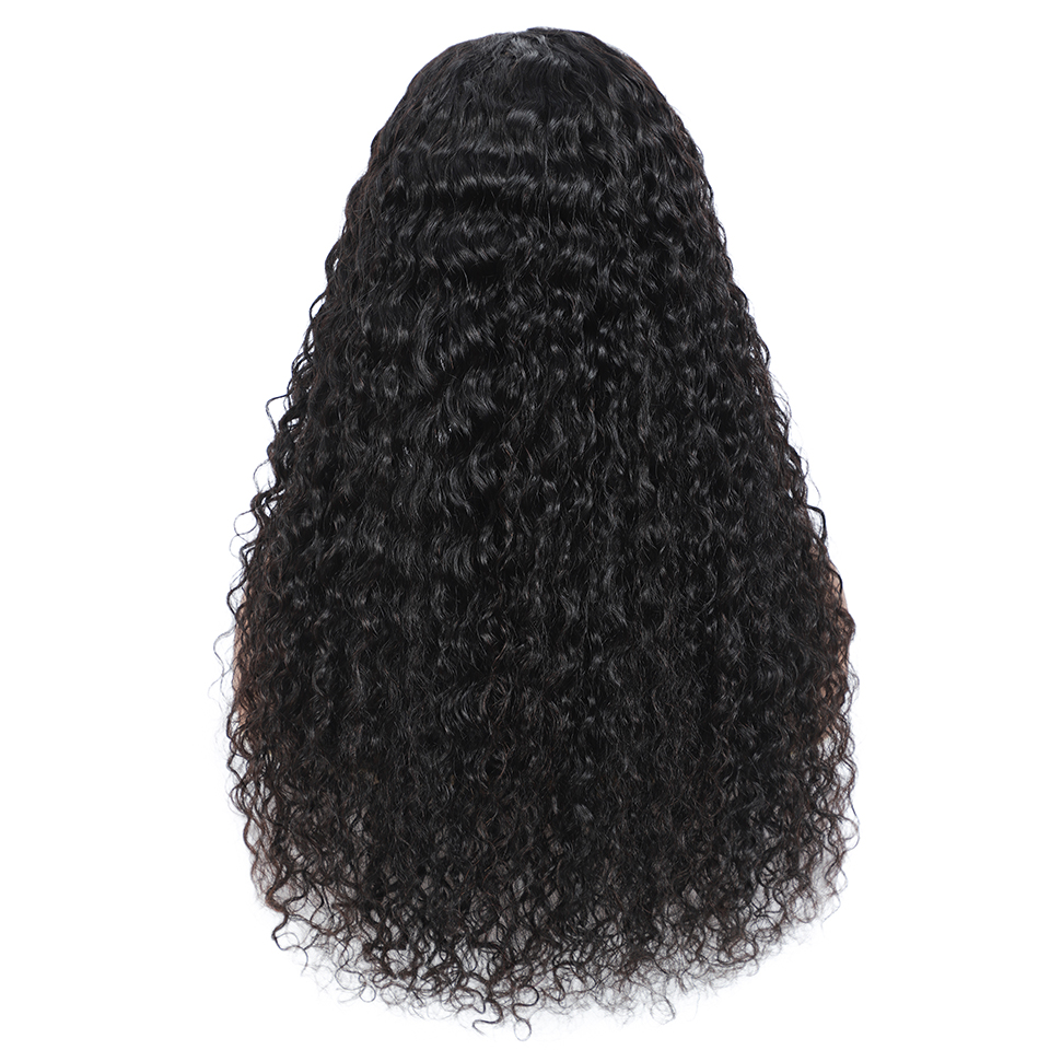 Real Women Water Wave Wig Lace Closure  Wigs Pre Plucked 30inch 4X4 Lace Closure Wig 180% Density  Wig 2
