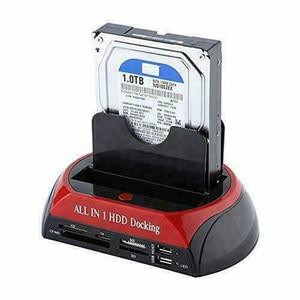 Image 2 - 新しいハードディスクすべて 1 つの Ide SATA 2.5 インチ 3.5 インチデュアルハードドライブ Hdd ドッキングステーションドック USB ハブカードリーダー