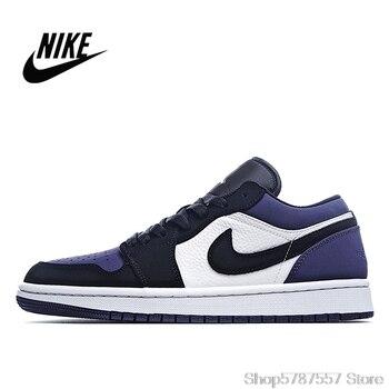 Nike  Air Jordan 1 Low Court Purple 553558-125 men and women basketball shoes size 36-45 CK3022-005