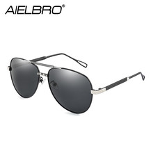 AIELBRO 2019 Brand Men Aluminum Sunglasses Polarized UV400 Mirror Male Fishing Sun Glasses Women For Men Oculos de sol цена 2017