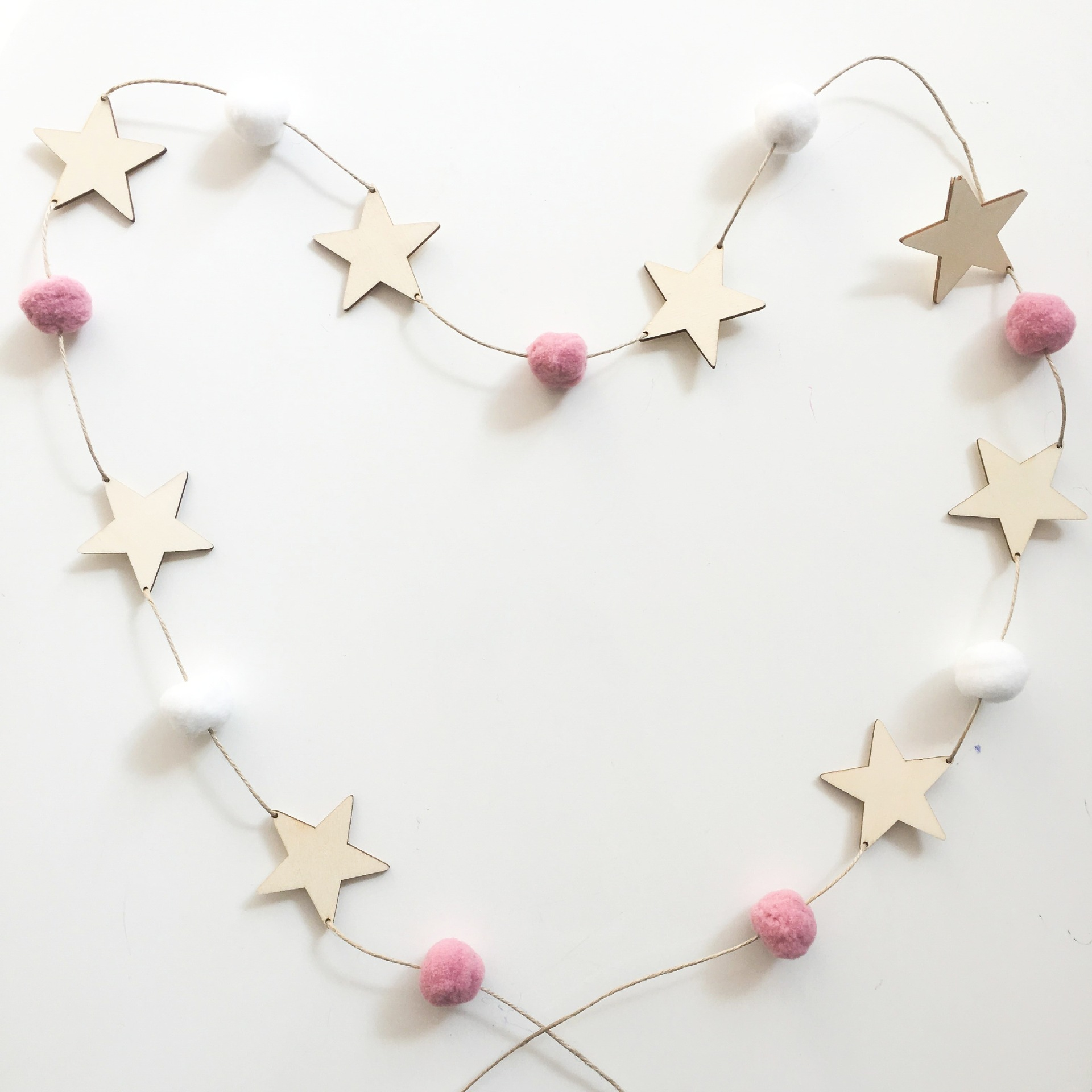 Baby Room Decoration Nordic Style Wall Hanging Ornament For Photography Props Cute Star Shape Wooden Beads Tassel Pendant