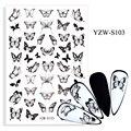 3D наклейки для ногтей, самоклеящиеся Милые Черные Бабочки, украшения для дизайна ногтей, красивые наклейки в виде насекомых, аксессуары из ф...