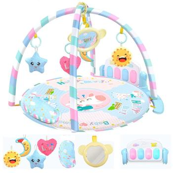 Kidlove Round  Infant Baby Music  Gym Piano Keyboard Toy Floor Carpet Activity Crawling Mat