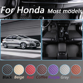Car Floor Mats For Honda Civic Accord City Jazz Crv Elysion Spirior Odyssey Insight All Models Custom Made Luxurious Floor Mats image