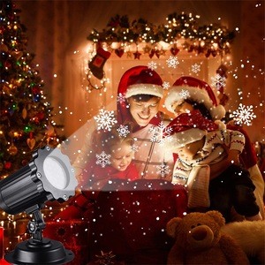 Image 5 - 방수 이동 눈송이 레이저 프로젝터 라이트 크리스마스 새해 led 무대 조명 야외 스노우 파티 정원 조경 램프