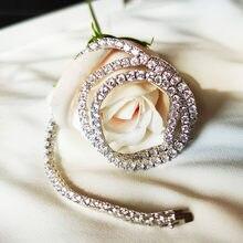 Collier de Tennis en argent Sterling 925 41 cm 3mm, chaîne en pierres de zircone pour femmes, bijoux ras du cou pour fête de fiançailles