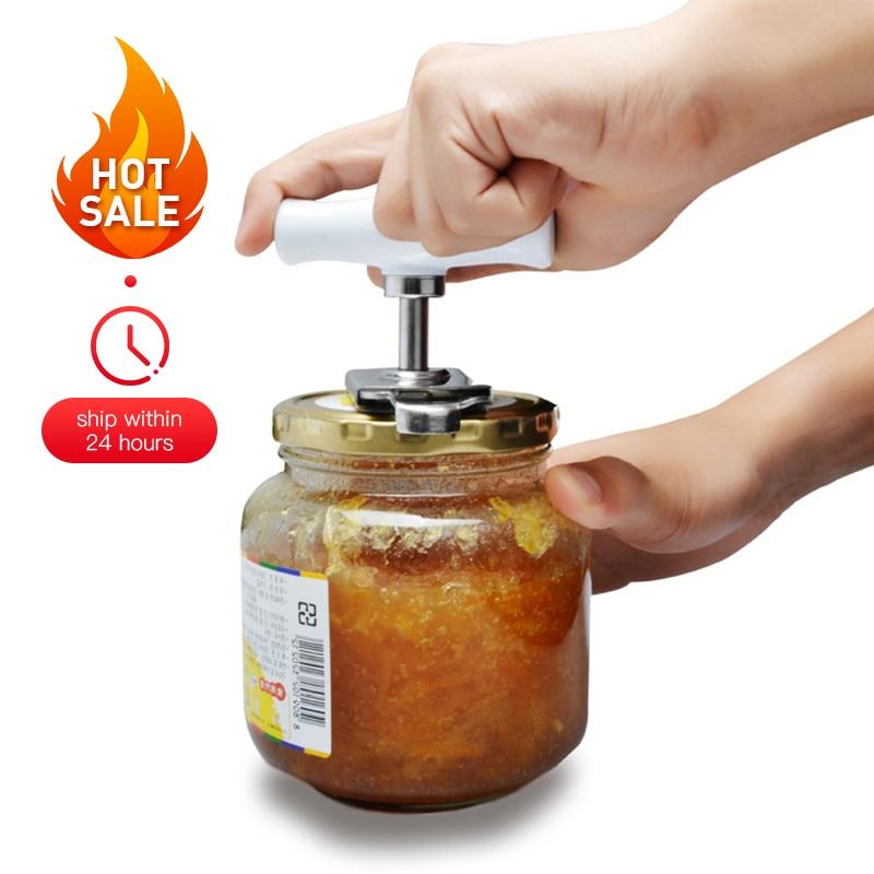 Регулируемый ручной может Jar нож легко Нержавеющаясталь Кепки крышкой инструмент для открывания для 1-4 года cm