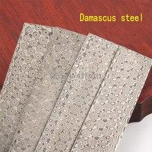 4 kinds Damascus steel DIY knife Making Material Rose Sandwich Pattern steel Knife blade blank Heat Treatment