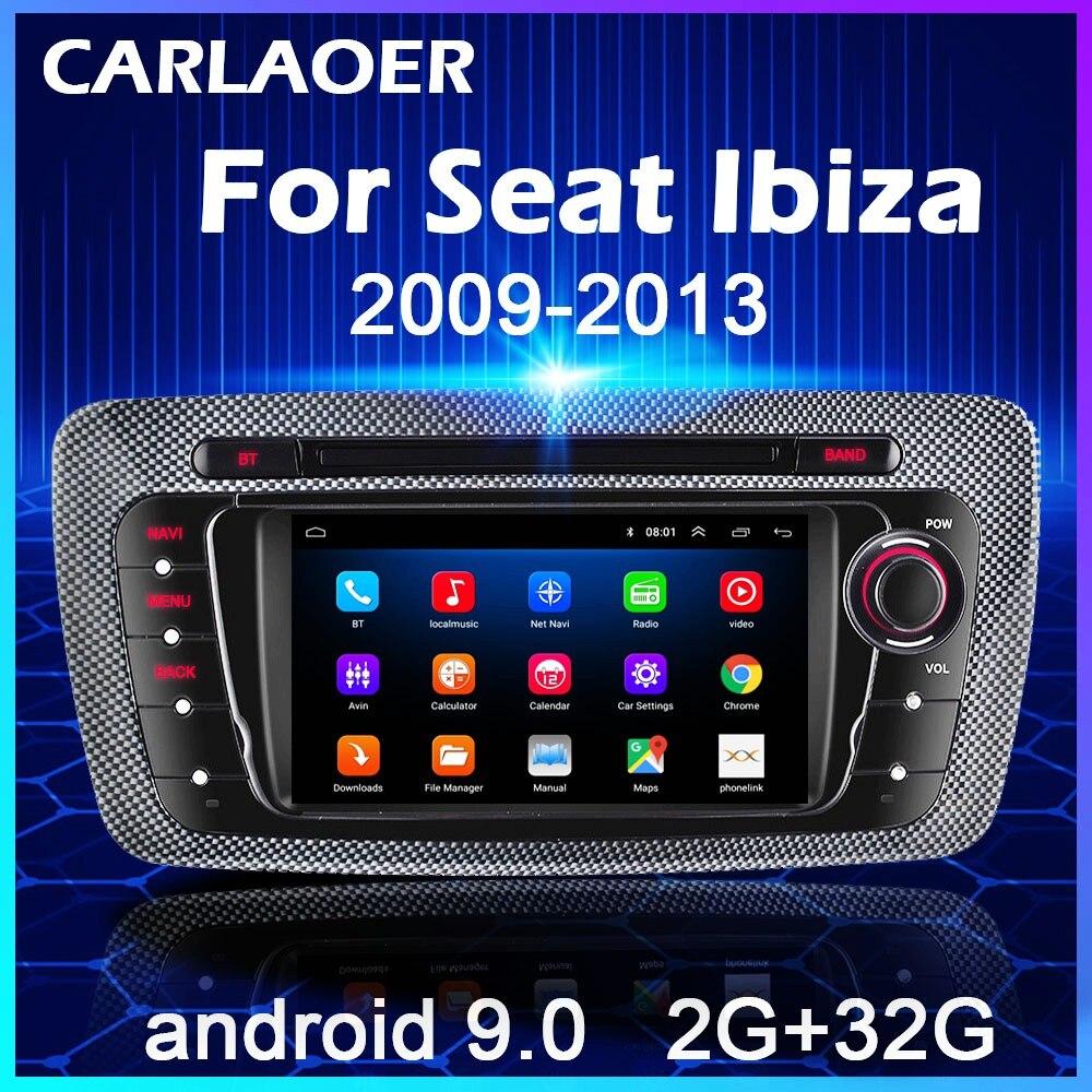 Android 9.0 araba radyo için koltuk Ibiza 6j 2009 2010 2012 2013 MK4 FR GPS navigasyon 2 Din ekran ses multimedya WIFI 2din oynatıcı