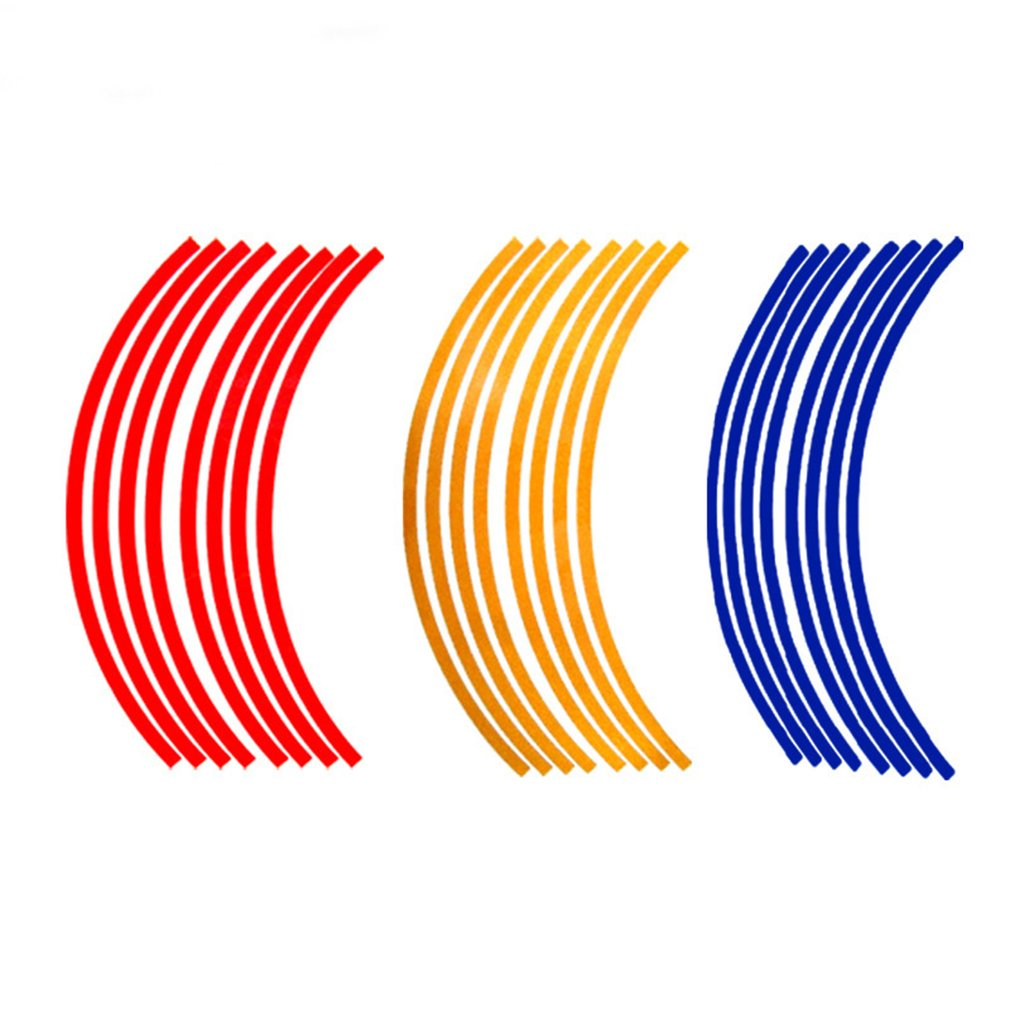 Random Color Car Tire Reflective Strip Motorcycle Reflective Decorative Strip Sticker Luminous Tire Sticke For Traffic Safety