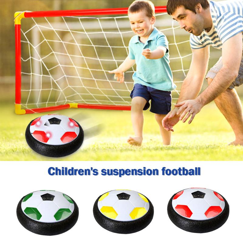 18cm Kids Levitate Suspending Soccer Ball Air Cushion Floating Foam Football LED Light Music Gliding Toys Soccer Toys Boys Gifts