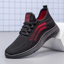 Baskets légères respirantes en maille pour hommes, chaussures confortables vulcanisées, tennis à la mode