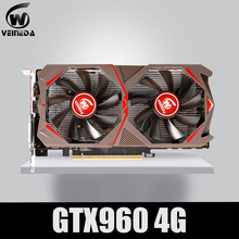 VEINEDA-tarjeta de vídeo de PC GTX 960, Original, 4GB, 128Bit, GDDR5, para nVIDIA, VGA, Geforce, GTX960, 4gb, Dvi