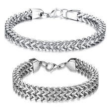 Fashionable Male Hip Hop Bracelet Man Domineer Thick Trend Simple Student Personality Fashion Titanium Steel