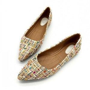 Image 2 - Lente Herfst Vrouwen Ballet Flats Schoenen Voor Vrouw Casual Loafers Enkele Schoenen Dame Zachte Werk Draving Schoeisel Zapatos Mujer