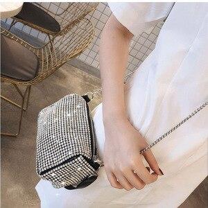 Image 5 - Women Bag 2019 Diamonds Designer Bag High Quality PU Crossbody Fashion mini shoulder Bags Ladies purses and handbags New Style