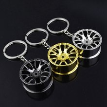 top sale 1pc Auto Part Car Wheel Rim Keychain Creative Accessories Auto Part Model Car Keyring turbo keychain(China)