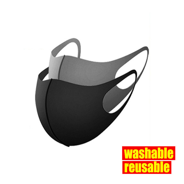 Anti-pollution Black Mouth Mask Anti Dust Mask Activated Carbon Windproof Mouth-muffle Bacteria Proof Flu Face Masks 2