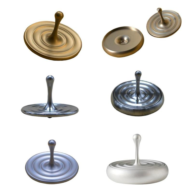 Desktop Stress Relief Gyroscop Aluminum Alloy Decompression Hypnosis Rotary Gyro Adult Fingertip Toy Kinetic Round Metal Spinner