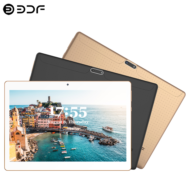 New System 10.1 Inch Tablets Android 7.0 3G Phone Call 32GB Quad Core Wi-Fi Bluetooth Dual SIM Tablet PC+Keyboard