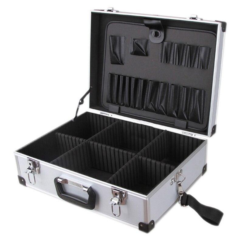Boîte à outils de rangement de boîte à outils de vol d'électricien verrouillable en Aluminium