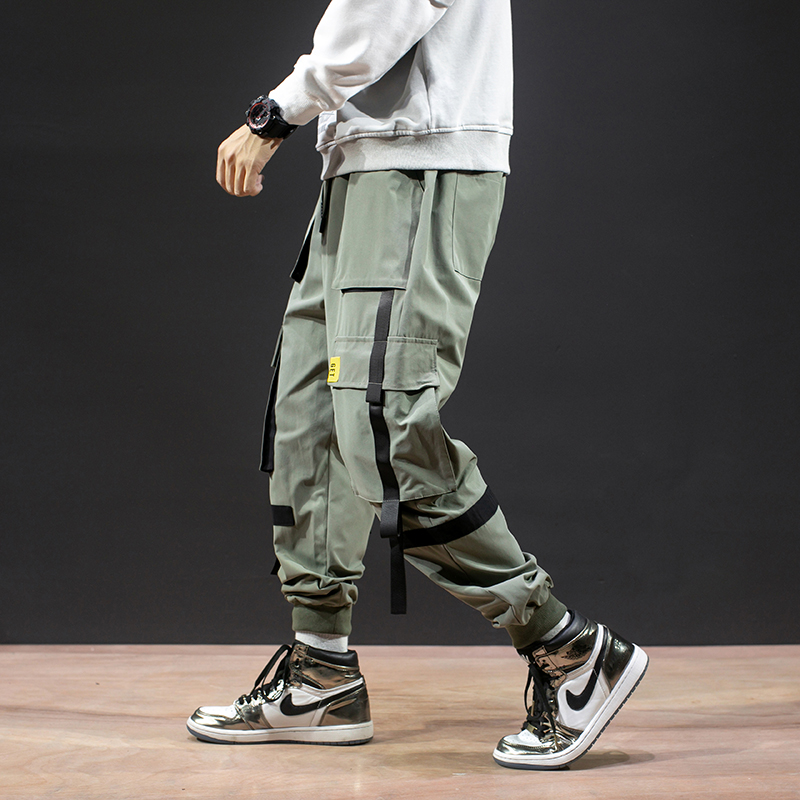 2019 New Autumn Military Track Pants Men Fashion Brand Trousers Men Streetwear Mens Joggers Pants Cargo Navy Kargo Pantolon