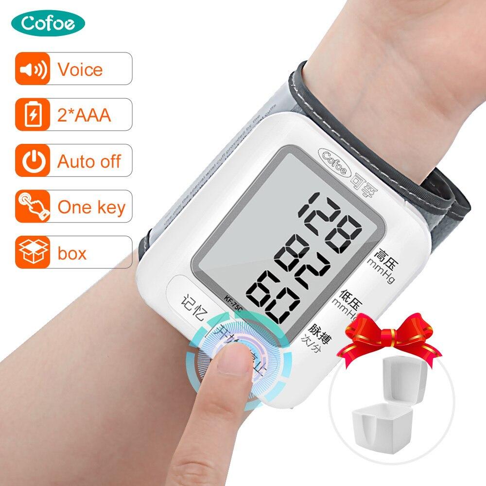 Cofoe Автоматический цифровой монитор артериального давления на запястье медицинский тонометр для голосовой трансляции цифровой домашний Сфигмоманометр с ЖК дисплеем|Артериальное давление|   | АлиЭкспресс