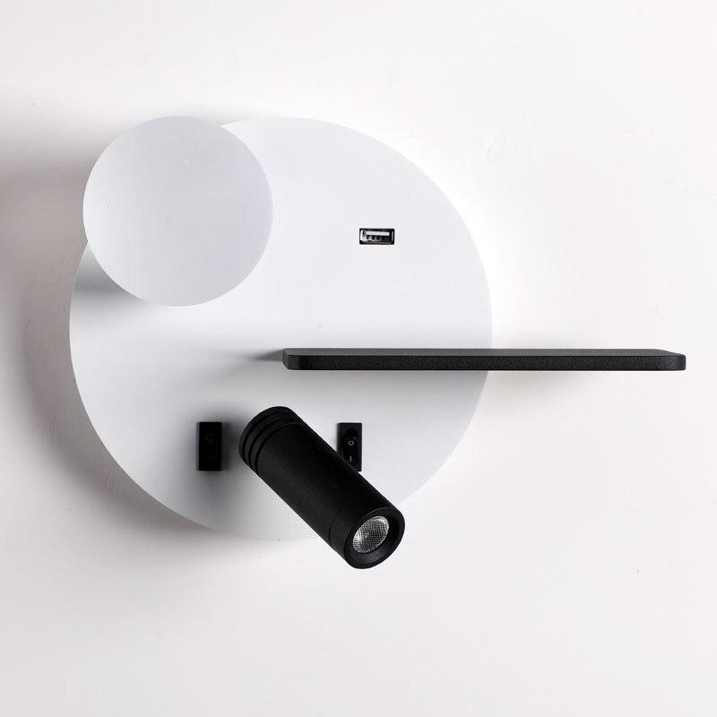 lampada de parede lampada de leitura lampada de cabeceira com prateleira pode ser carregamento do telefone