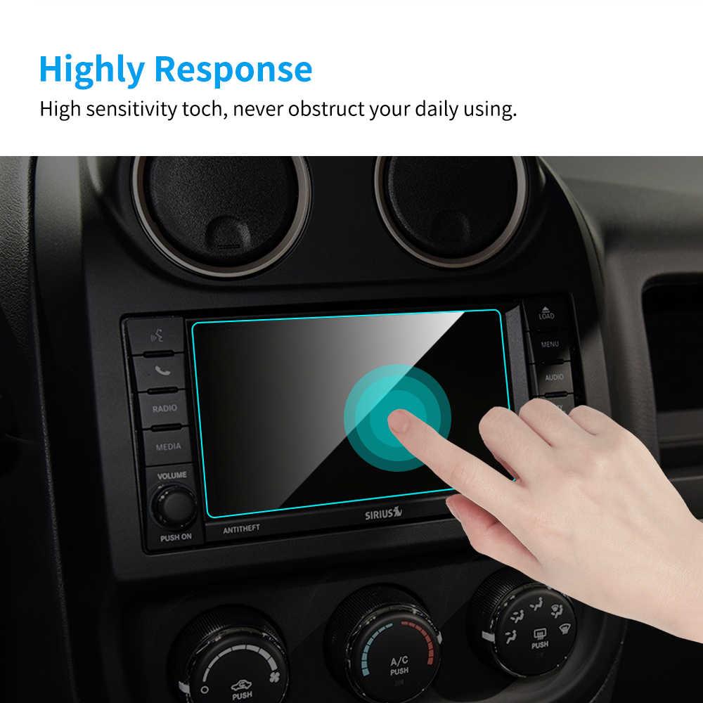 Protector de pantalla de coche de 6,5 pulgadas para Jeep Patriot navegación GPS Interior del coche accesorios de película protectora de pantalla de vidrio templado