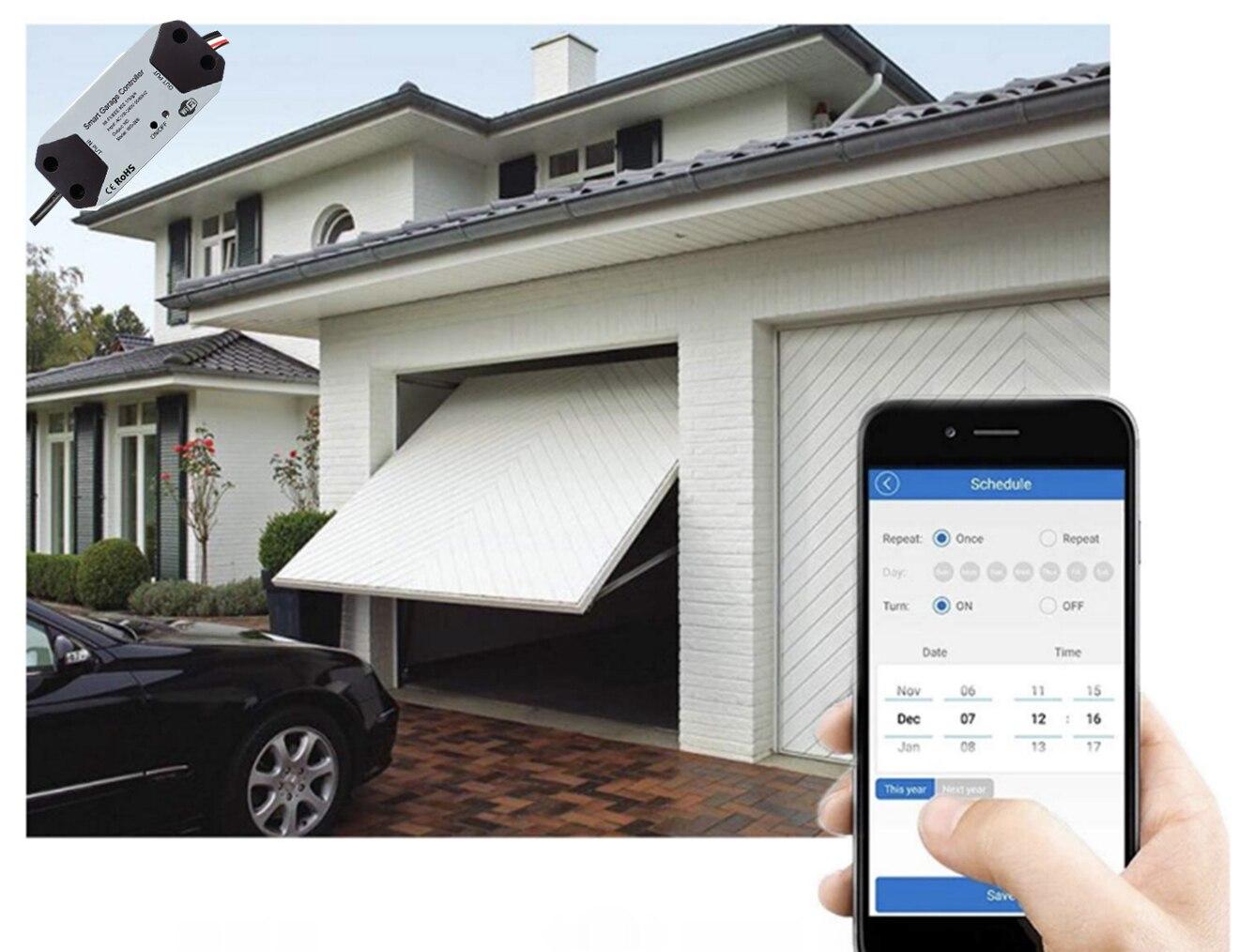 H30c584a766dd47368b13c17d4686dbf2M Wofea WiFi Switch Smart Garage Door Opener Controller Work With Alexa Echo Google Home SmartLife/Tuya APP Control No Hub Require