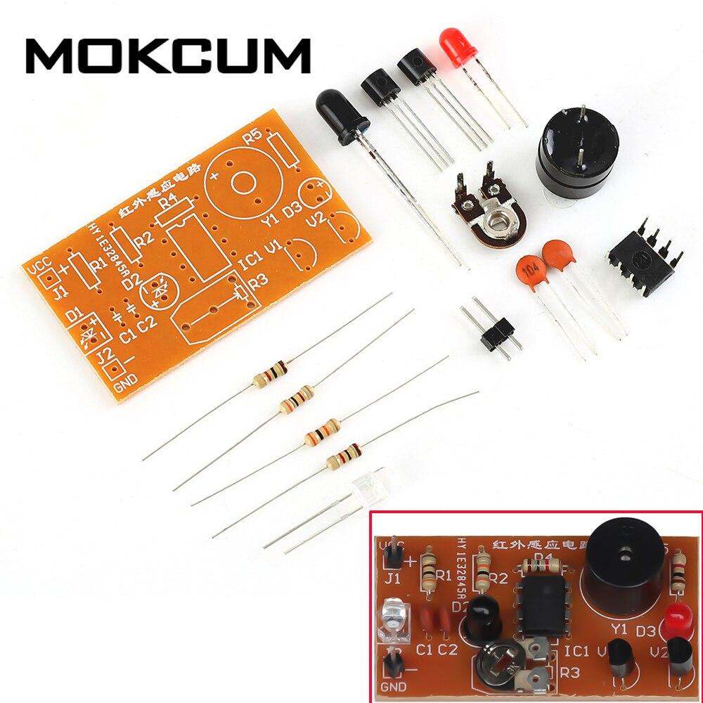 DC 5V DIY Kits Infrared Sensor Alarm Electronic Circuit Suite Infrared Diode Sensing Circuit Kit