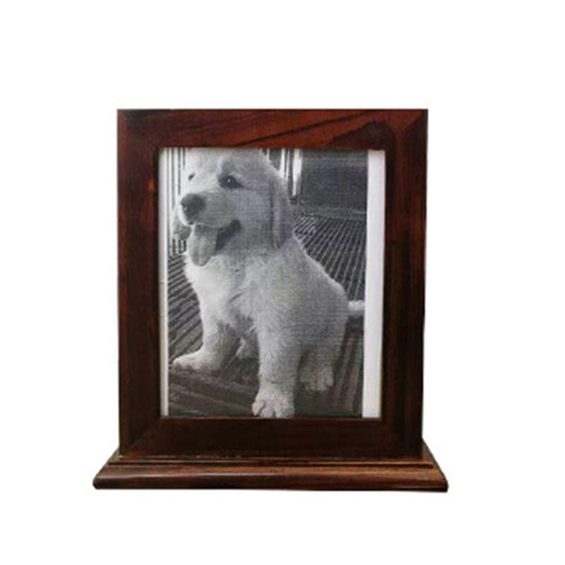 Simple cadre Photo bois animal crémation urne pour cendres parfait lieu de repos K4UA