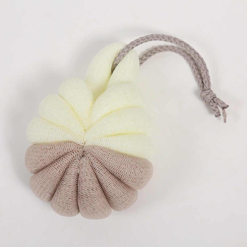 Kolifu, vente en gros éponge de bain exfoliant Loofahs, Pouf boule de douche, 60 grammes Double couleur, bonne qualité, YH004