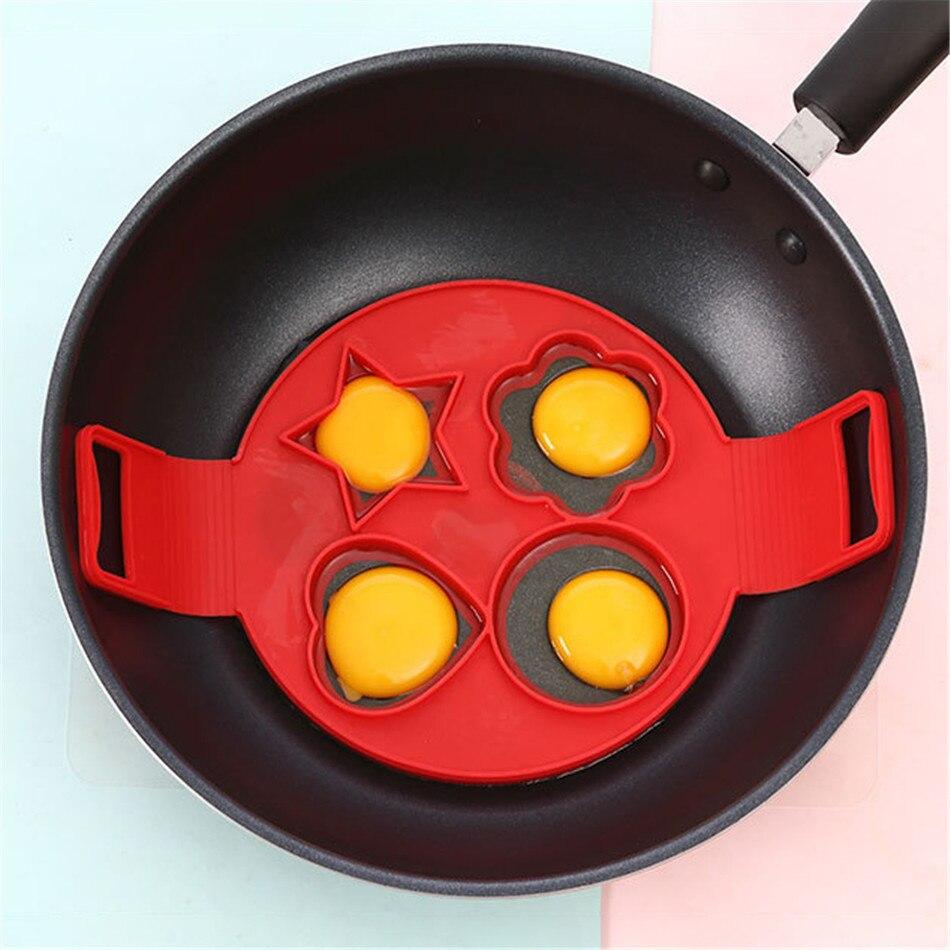 4 Trous Moule en Silicone Fried Egg Antiadh/ésives Pancake Maker Cooking Outil Egg Maker Anneau Cr/êpes Au Fromage Po/êle /À Oeufs Retourner Oufs Moule Cuisine Cuisson Moule Rouge