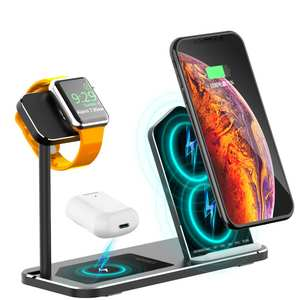 Dock-Station iPhone8 Apple Wireless-Charger Max-Iwatch123 Airpods2/pro-Stand 10W Fast