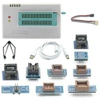 Ffyy novo v8.51 tl866ii plus universal minipro programador + 10 adaptadores + clipe de teste tl866 pic bios alta velocidade programador|Adaptadores AC/DC| |  -
