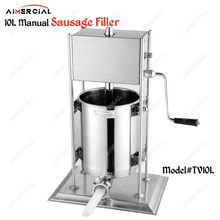 TV10L/TV15L manual sausage filler S.steel stuffer quality maker making machine
